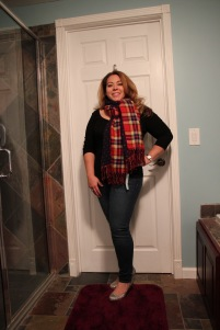 Octavia, Raymond Plaid & Polka Dot Scarf, Stitch Fix