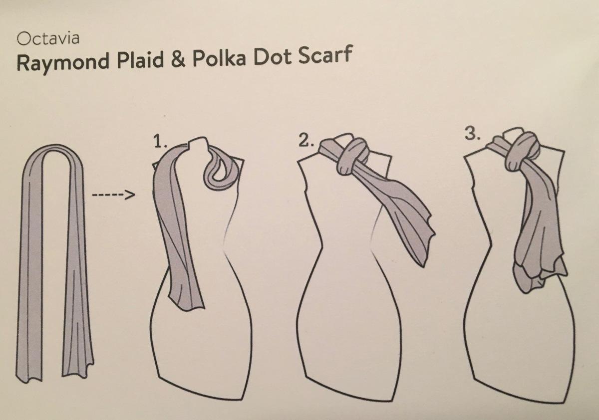 Octavia, Raymond Plaid & Polka Dot Scarf, Stitch Fix