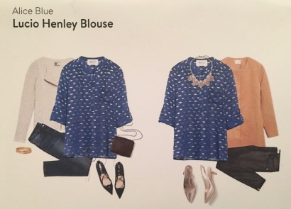 Alice Blue, Lucio Henley Blouse, Stitch Fix